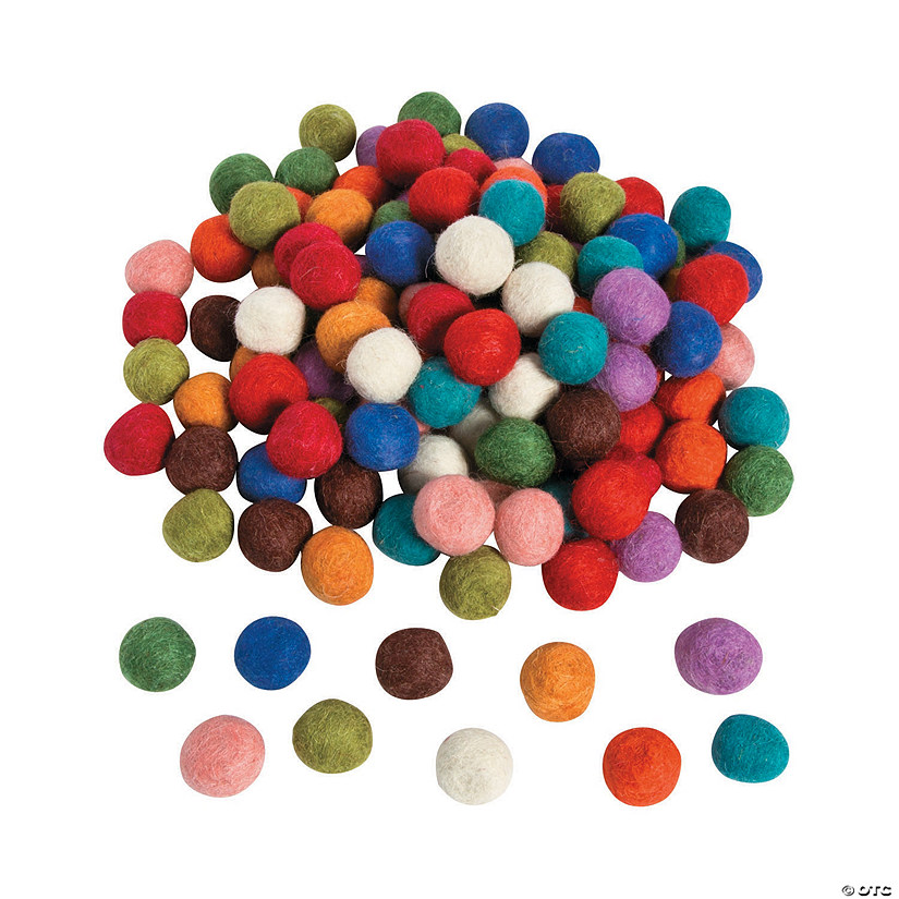 Craft Wool Felt Pom-Pom Assortment