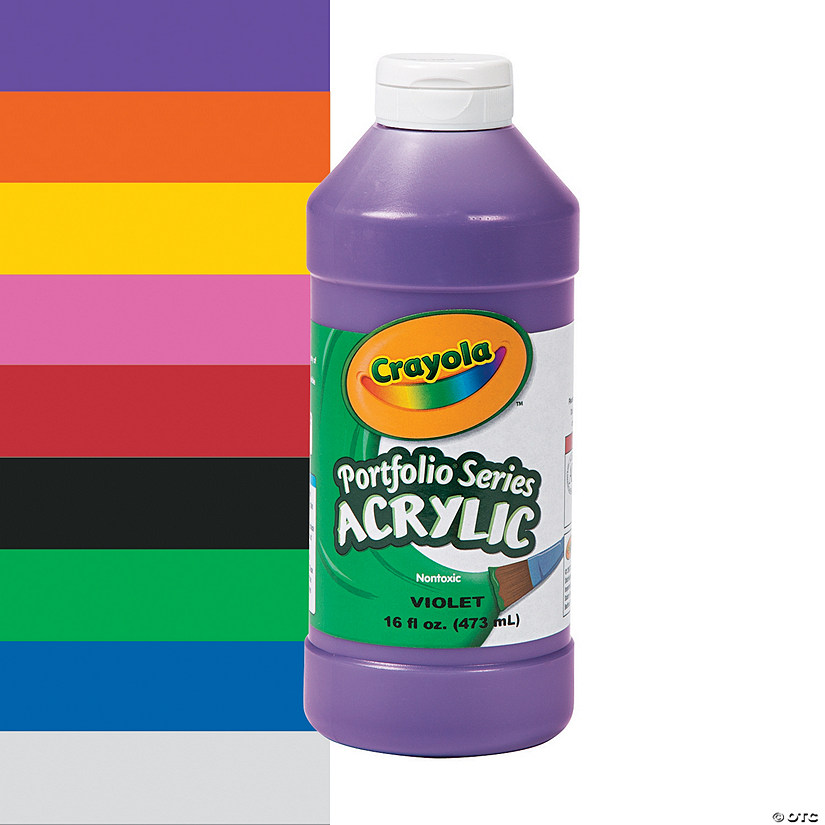 Crayola<sup>®</sup> Acrylic Paints - 16 oz.
