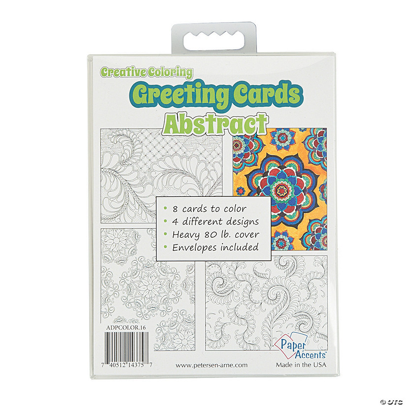 Creative Abstract Coloring Cards