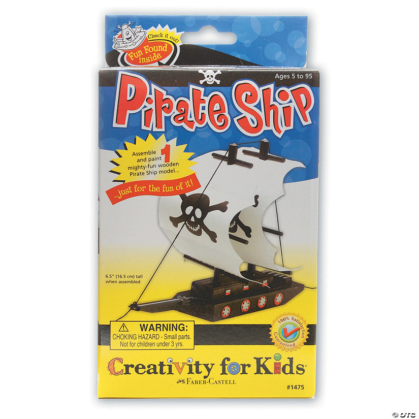 Creativity for Kids Make Your Own Pirate Ship Kit