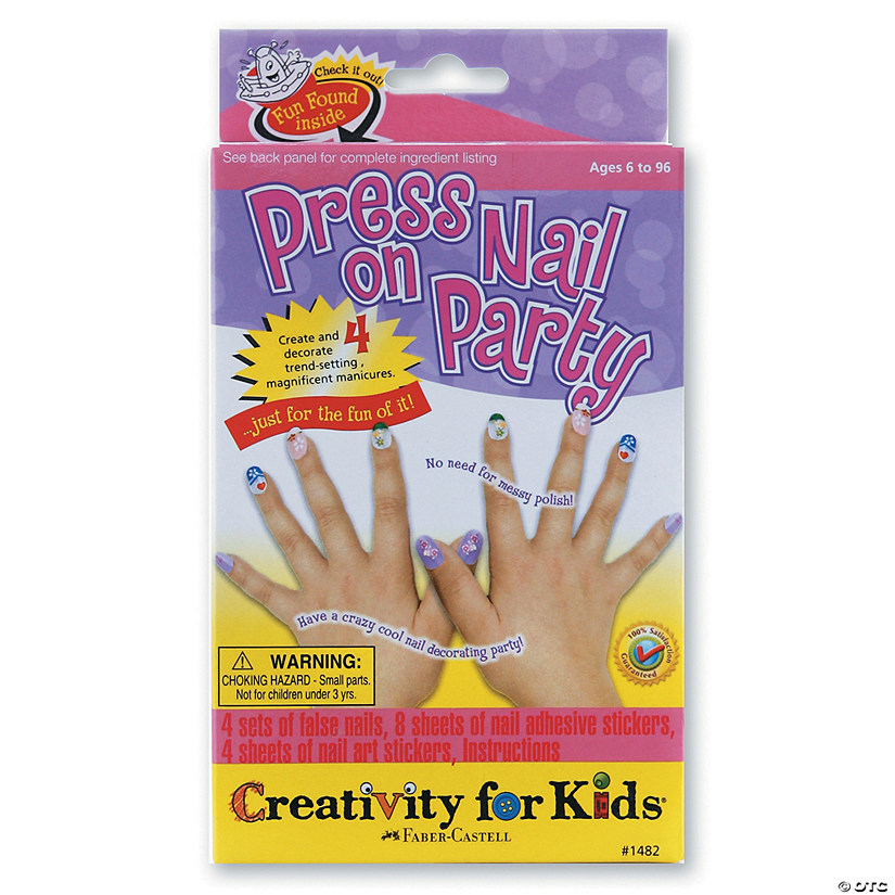 Creativity for Kids Press on Nail Party Kit
