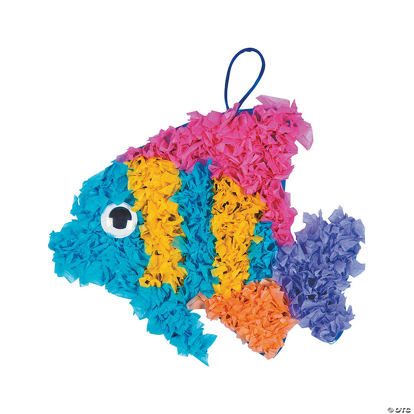 Crinkle Tissue Paper Tropical Fish Craft Kit