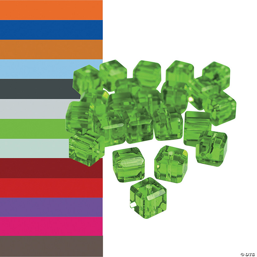Crystal Cube Beads 8mm