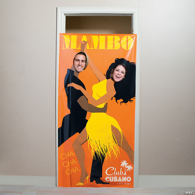 Cuban Couple Photo Door Banner
