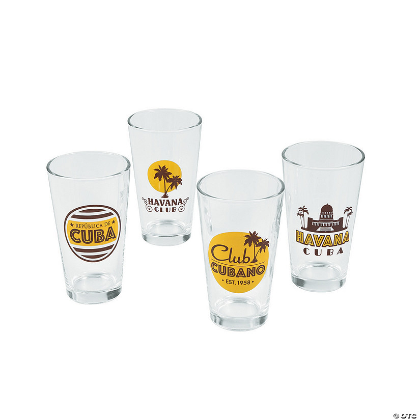Cuban Party Glass Tumblers