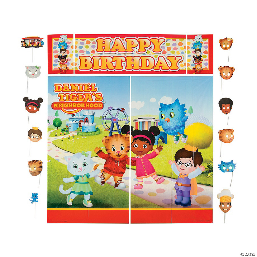 Daniel Tiger's Neighborhood™ Birthday Scene Setter & Photo Stick Props