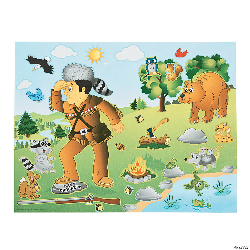 Davy Crockett Sticker Scenes