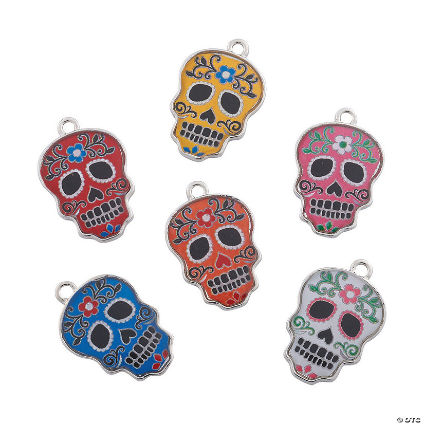 Day of the Dead Enamel Charms