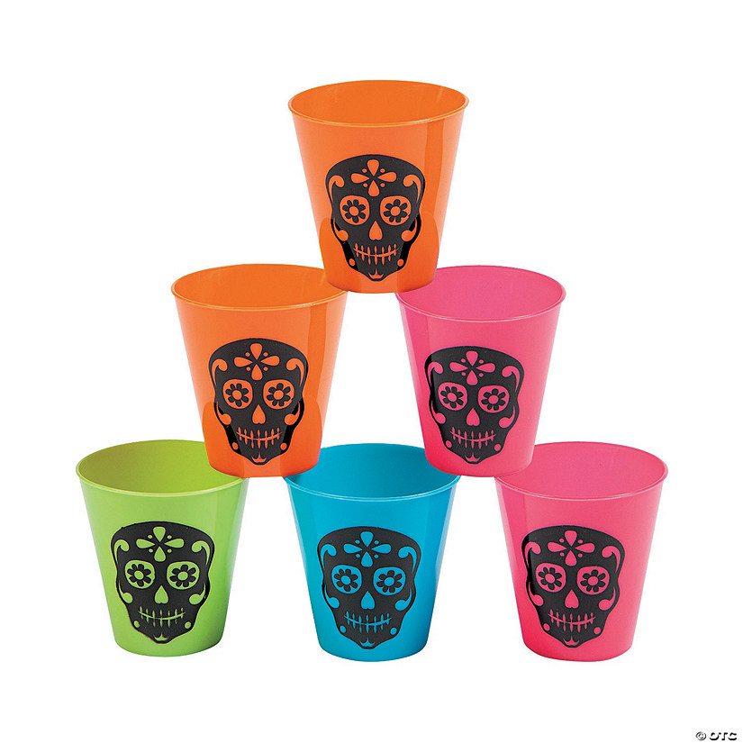 Day of the Dead Plastic Shot Glasses