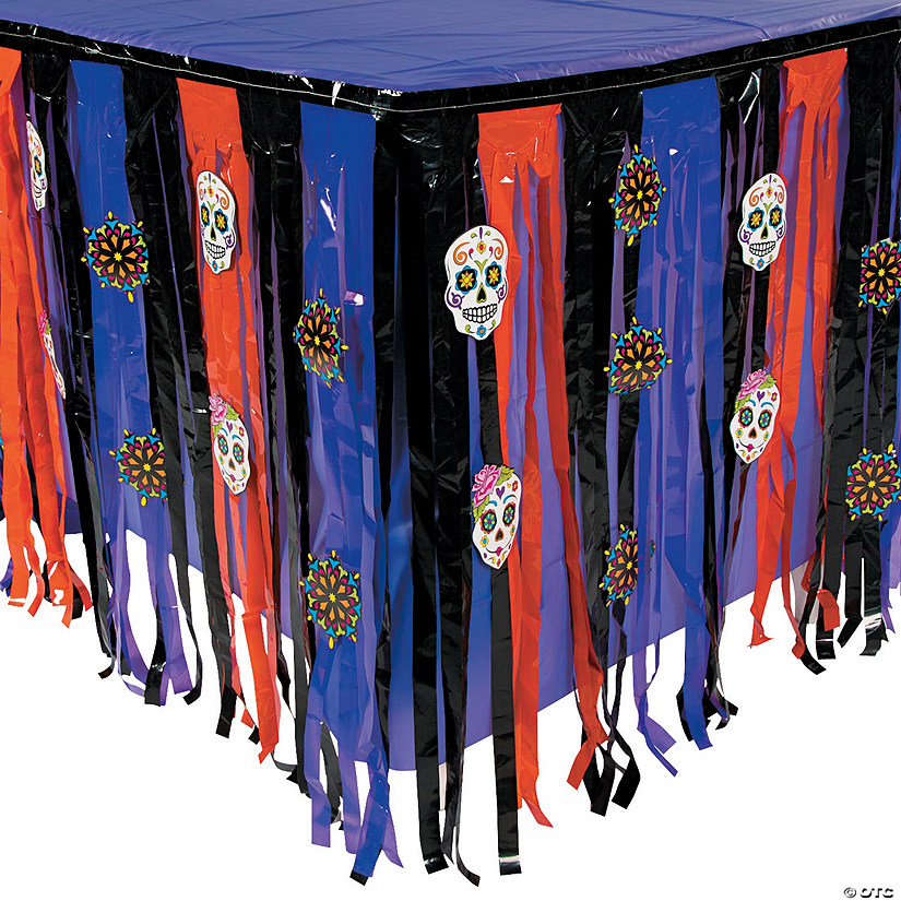 Day of the Dead Table Skirt with Cutouts