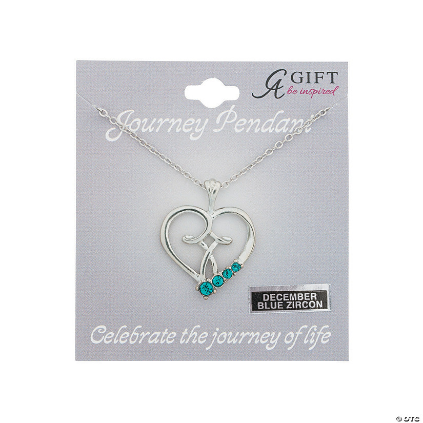 December Birthstone Pendant Necklace