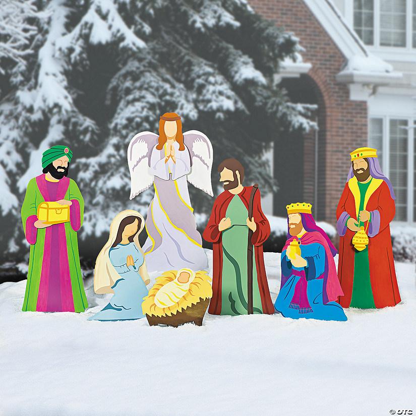 Deluxe Nativity Scene Yard Stakes