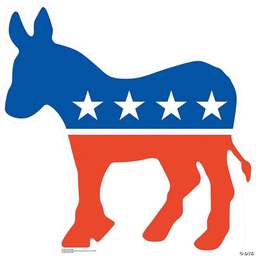 Democratic Donkey Cardboard Stand-Up