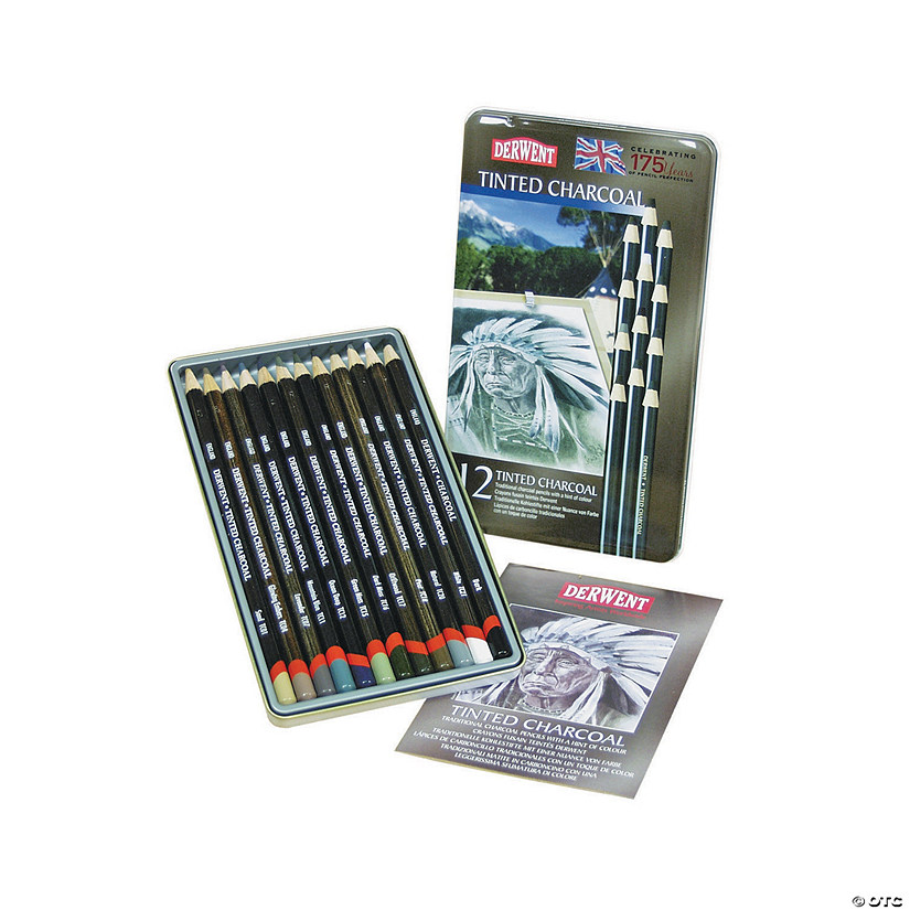 Derwent Tinted Charcoal Pencil Set