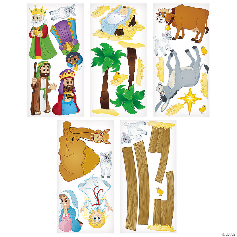 Design-A-Room Nativity Animals Backdrop Set