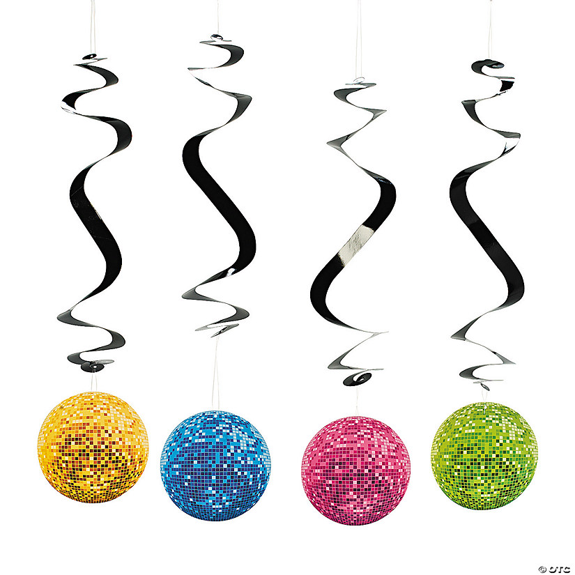 Disco Party Hanging Swirls