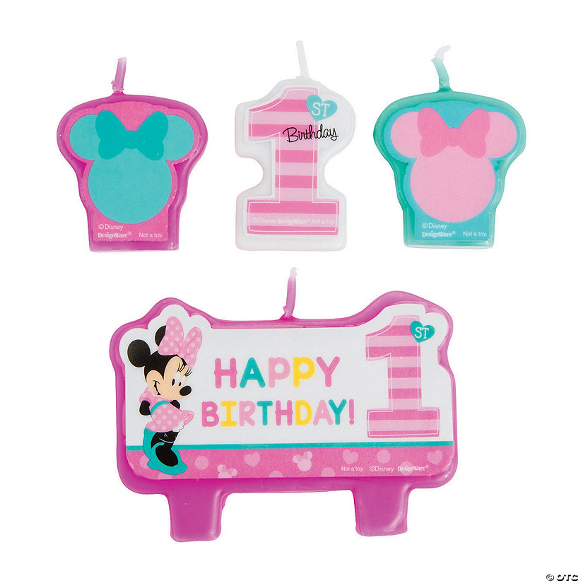 Disney® Minnie's Fun To Be One Candle Set