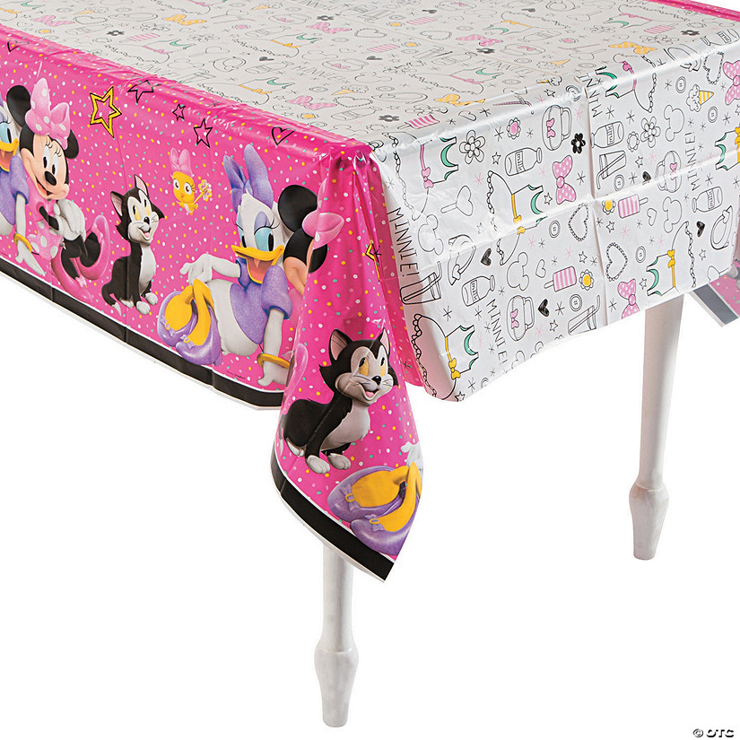 Disney® Minnie's Happy Helpers Plastic Tablecloth