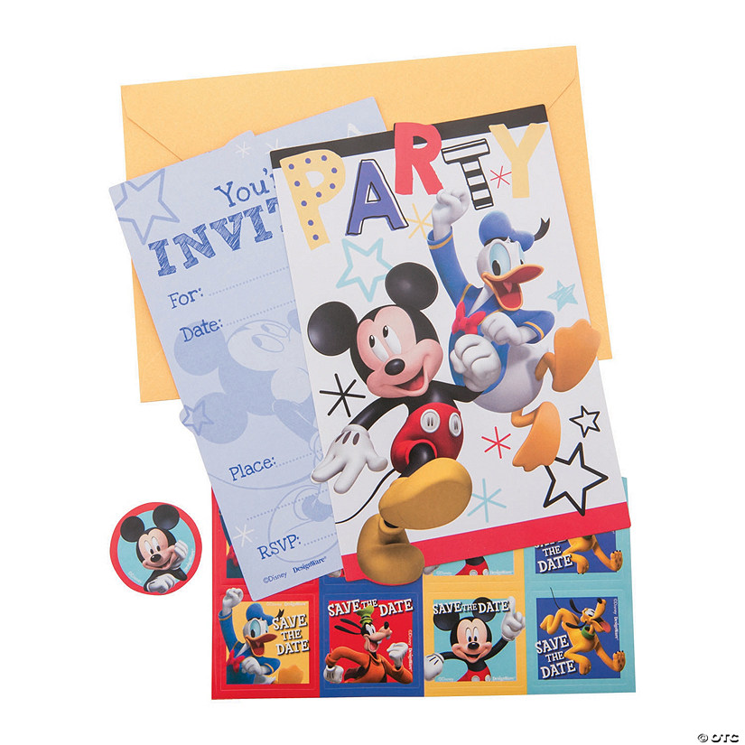 Disney<sup>®</sup> Mickey on the Go Invitations