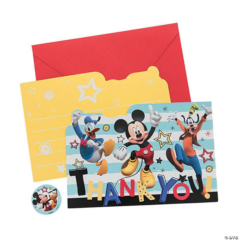 Disney<sup>®</sup> Mickey on the Go Thank You Cards