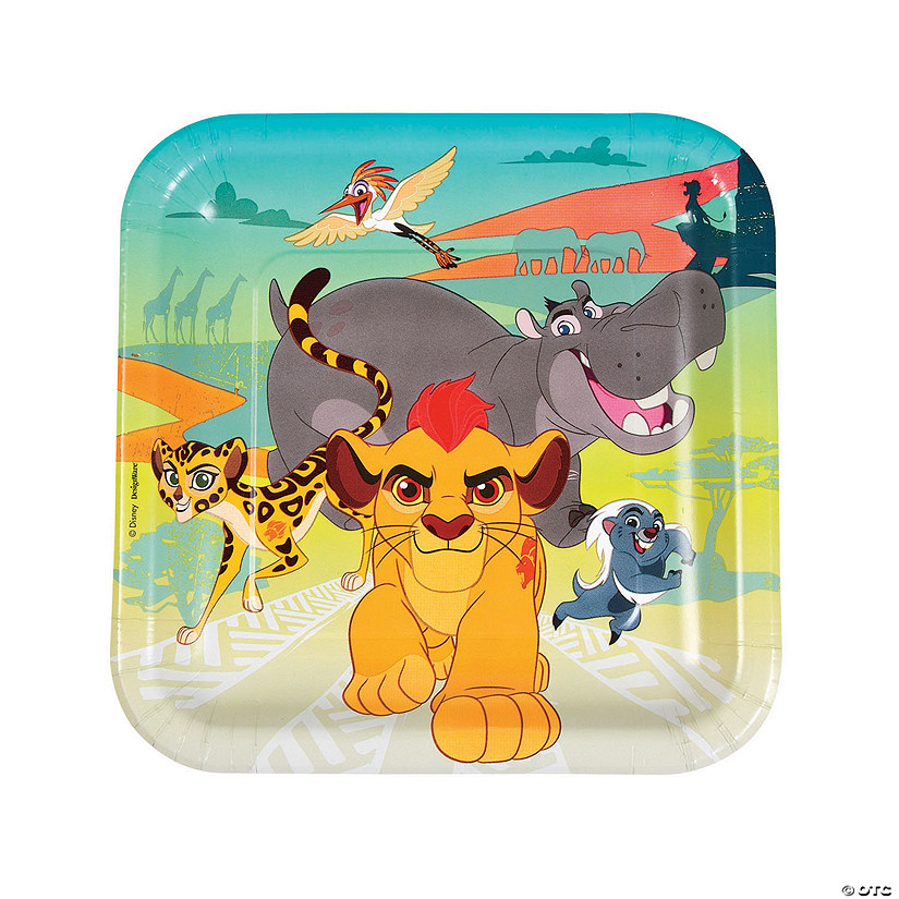 Disney® The Lion Guard Square Paper Dinner Plates