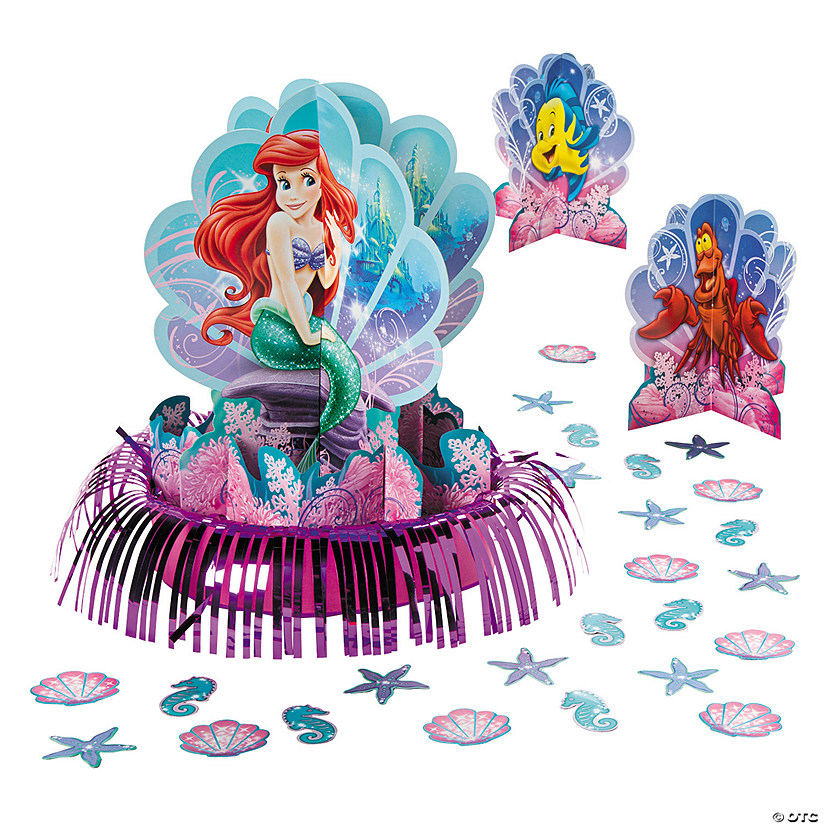 Little Mermaid Centerpiece Ideas Wedding: Disney's The Little Mermaid Ariel Centerpiece Table