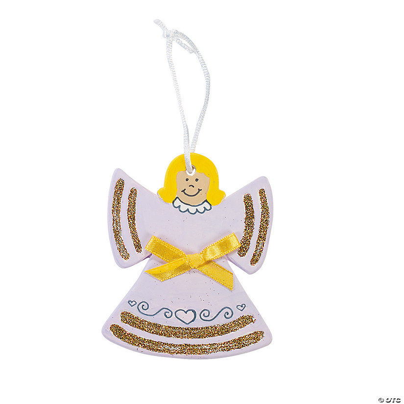 Color Your Own Religious Christmas Ornaments: DIY Ceramic Angel Ornaments