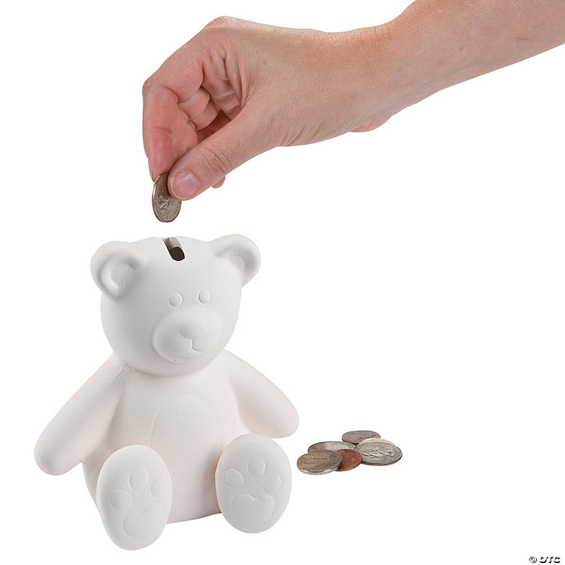 DIY Ceramic Teddy Bear Banks