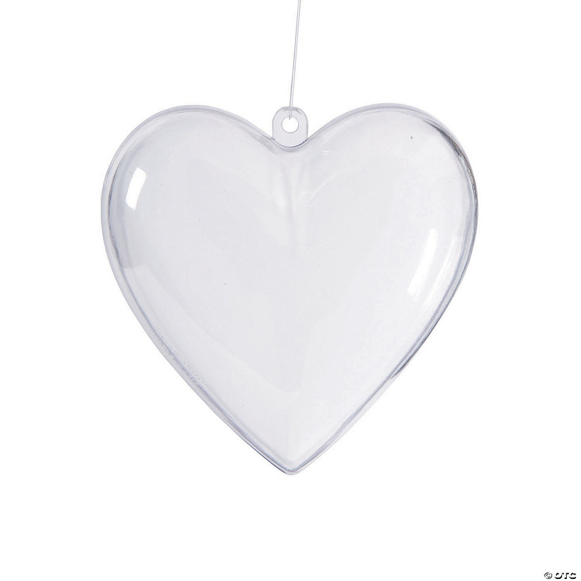 DIY Clear Heart Ornaments