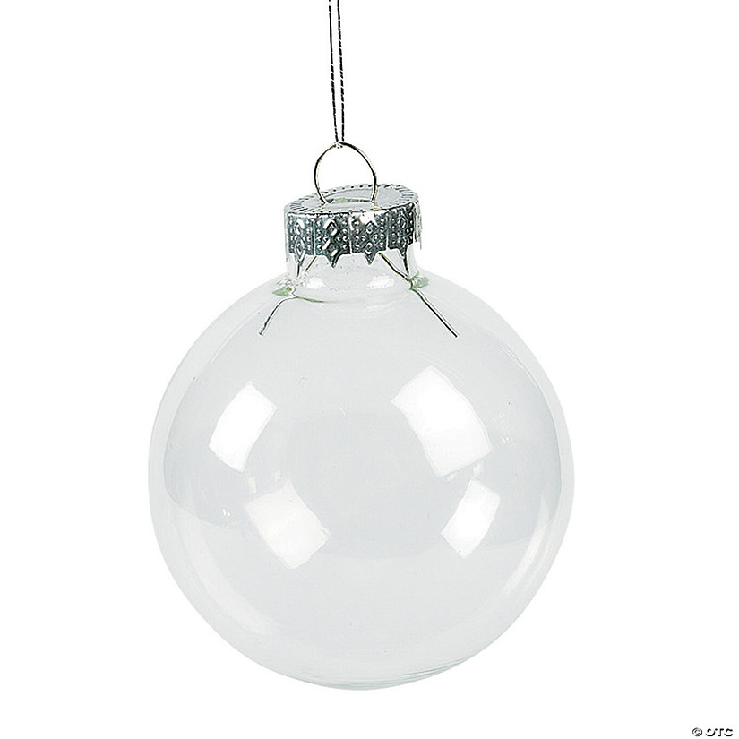 DIY Clear Round Christmas Ornaments
