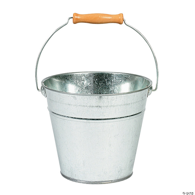 DIY Large Silver Tin Pail