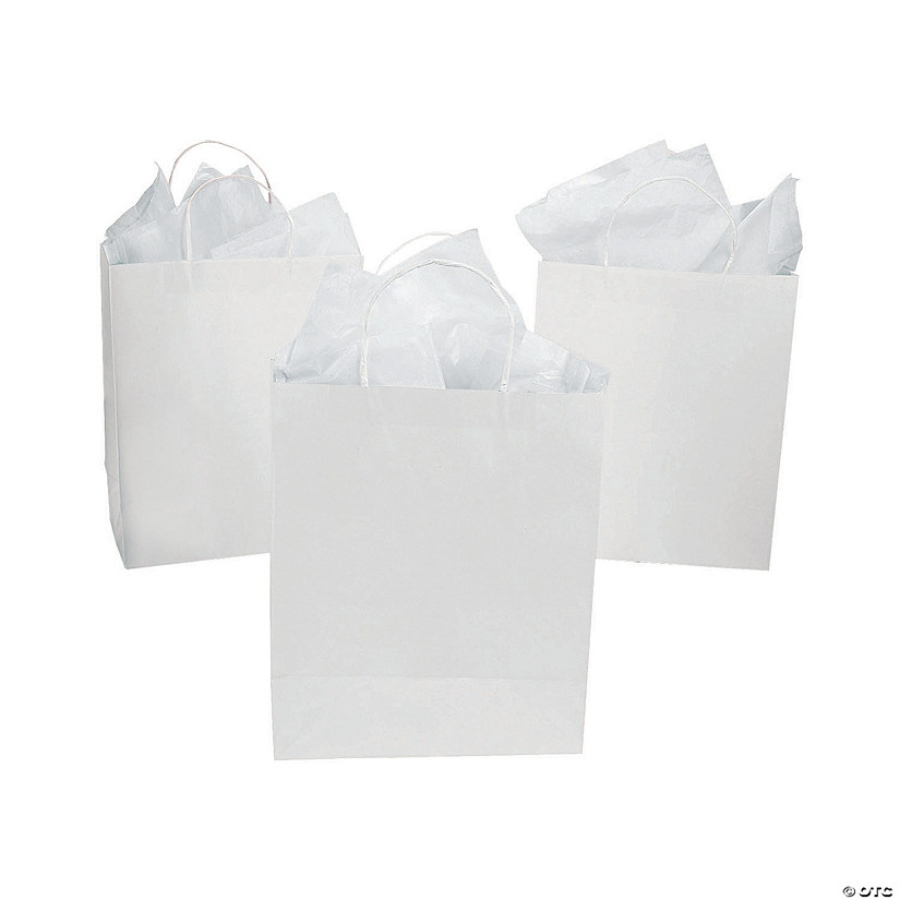 DIY Large White Gift Bags