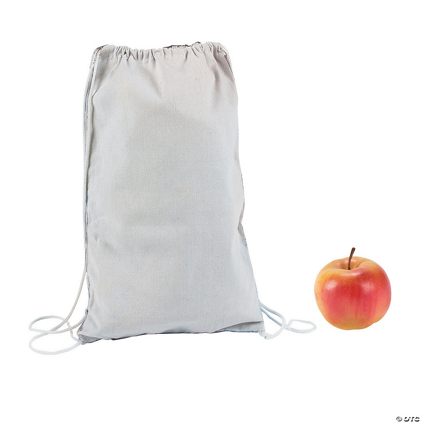 DIY Small White Canvas Drawstring Bags