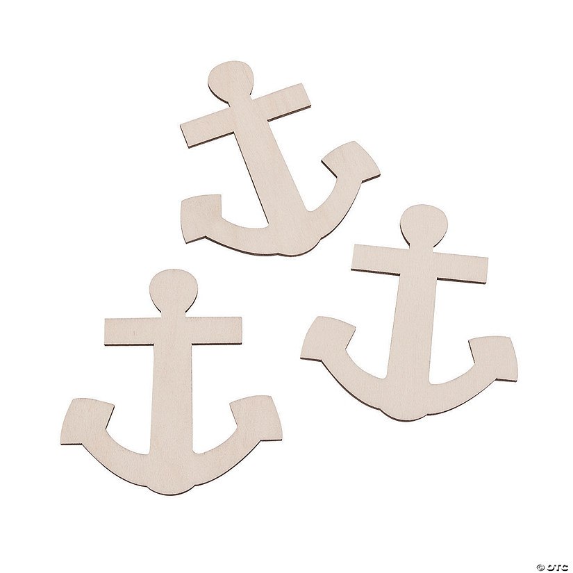 DIY Unfinished Wood Anchor Shapes