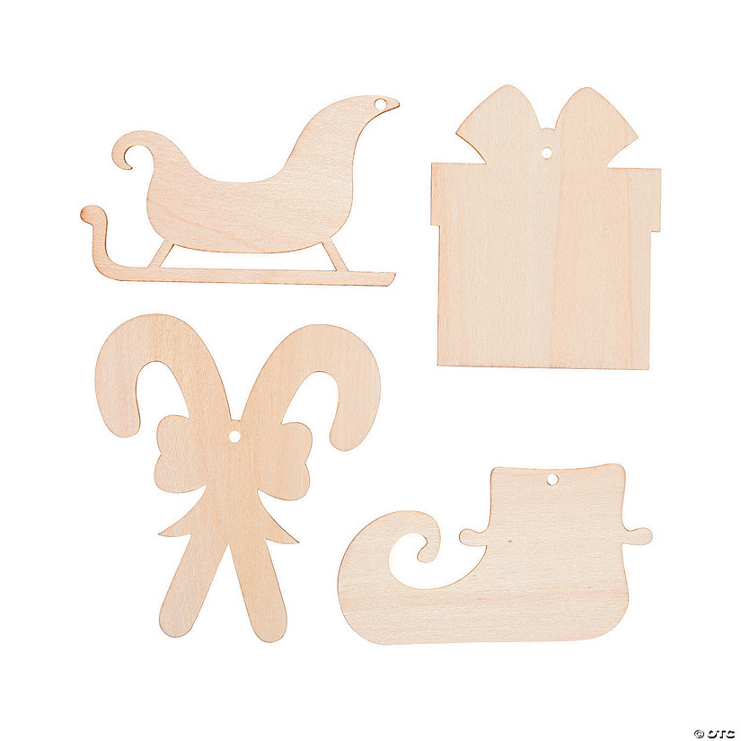 DIY Unfinished Wood Christmas Cutouts