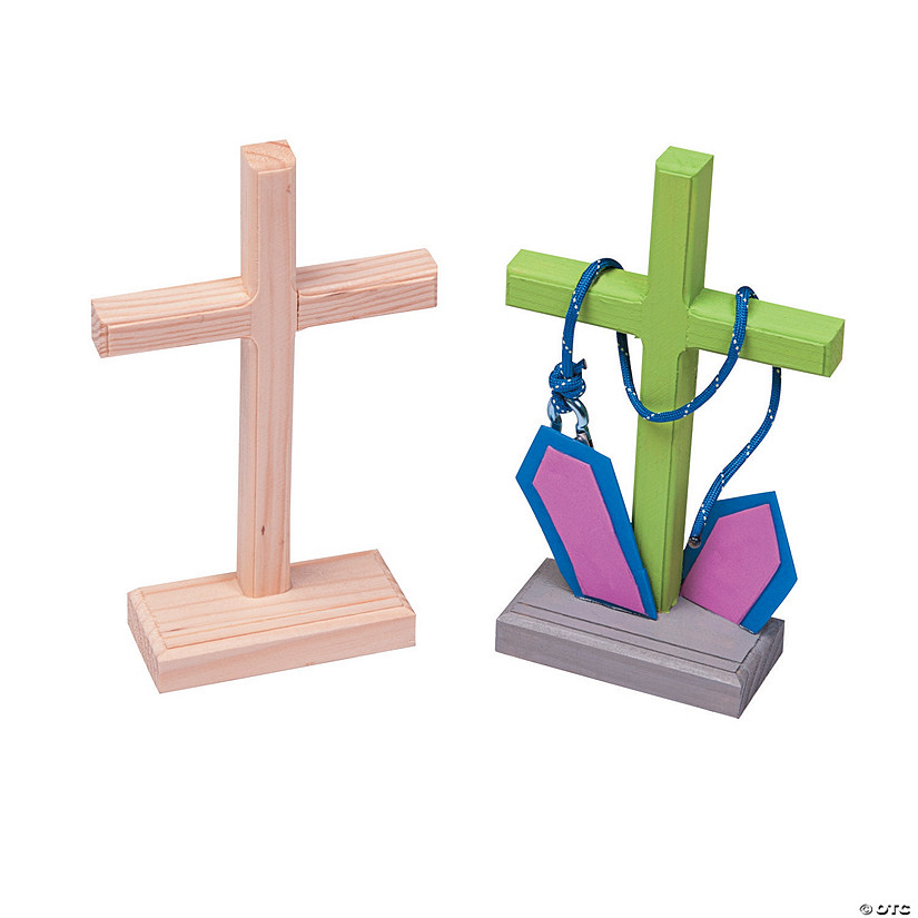 Diy unfinished wood crosses for Wooden craft crosses wholesale