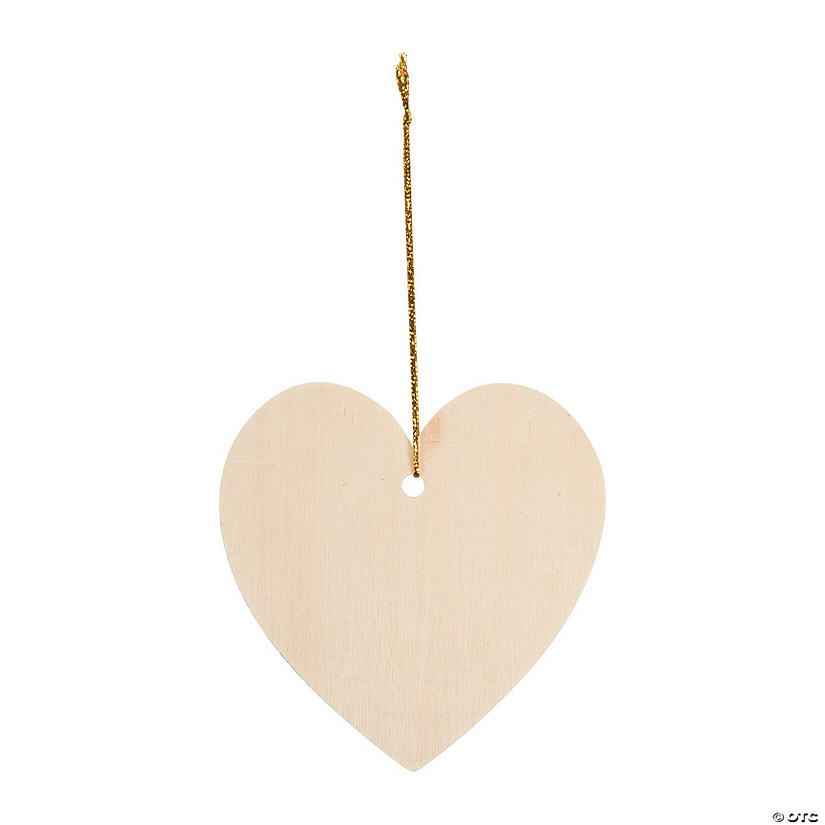 DIY Unfinished Wood Heart Ornaments