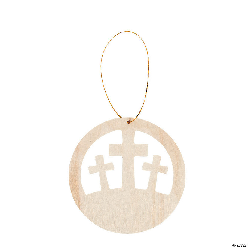 DIY Unfinished Wood Resurrection Crosses Ornaments