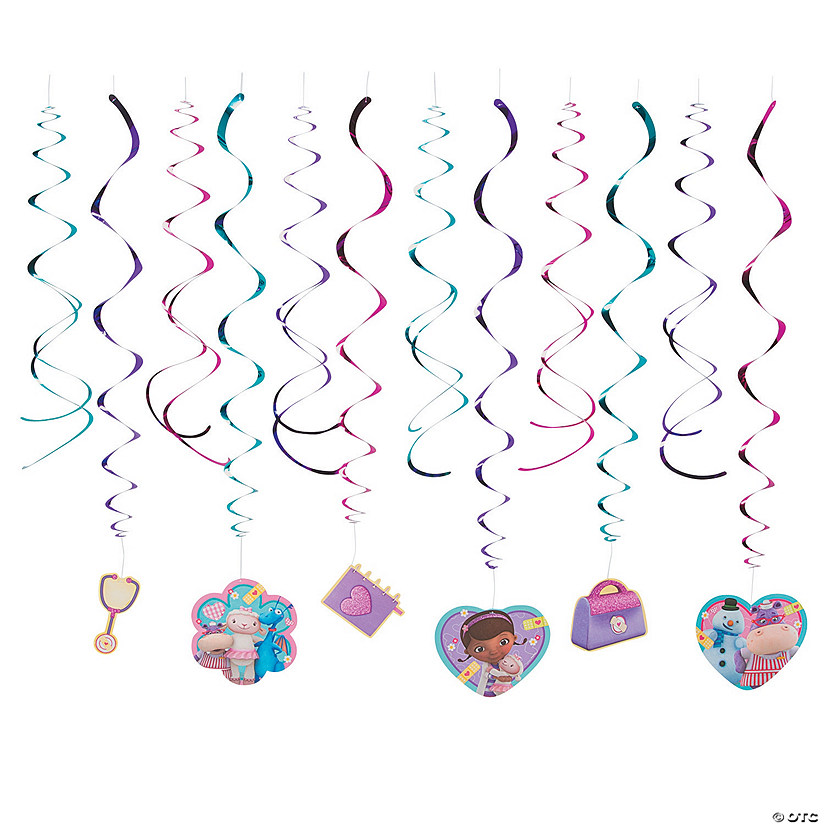Doc McStuffins Swirl Decorations Value Pack