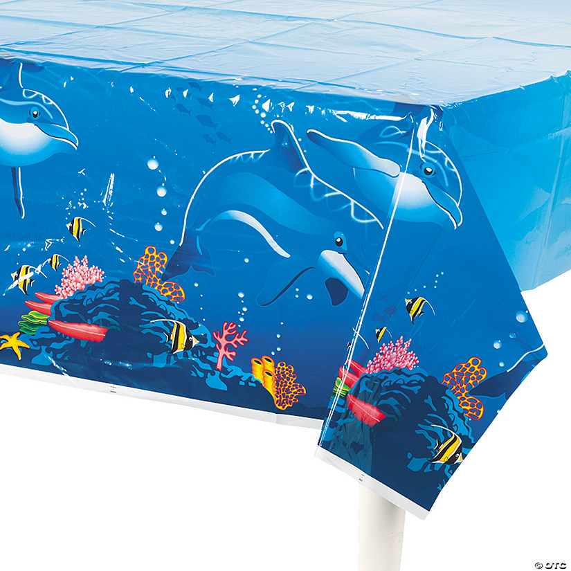 Dolphin Plastic Tablecloth