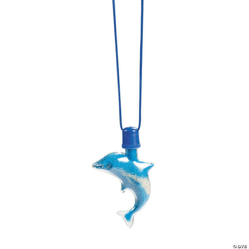 Dolphin Sand Art Necklaces