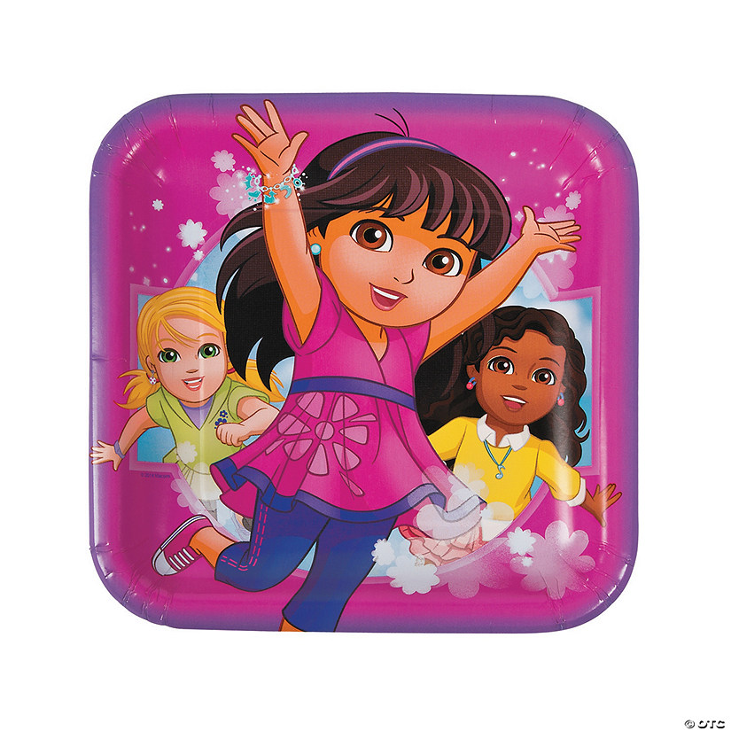Dora & Friends Square Paper Dinner Plates