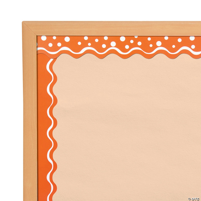 Doubled-Sided Bulletin Board Borders Scalloped Edge Happy Tangerine
