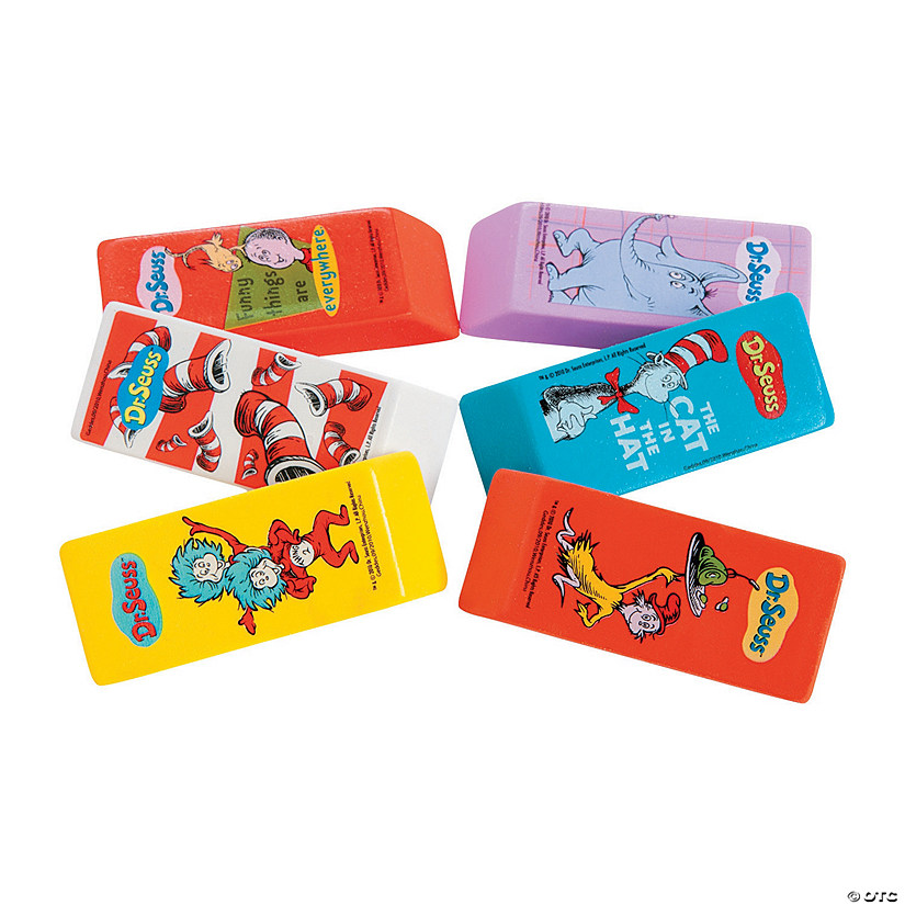 Dr. Seuss™ Beveled Erasers