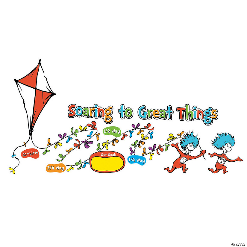 Dr. Seuss™ Soaring to Great Things Goal Chart Bulletin Board Decoration