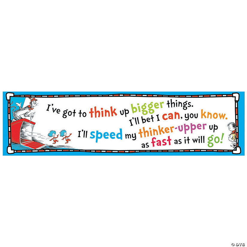 Dr. Seuss™ Think Up Bigger Things Banner
