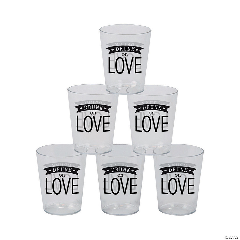 Drunk on Love Plastic Shot Glasses