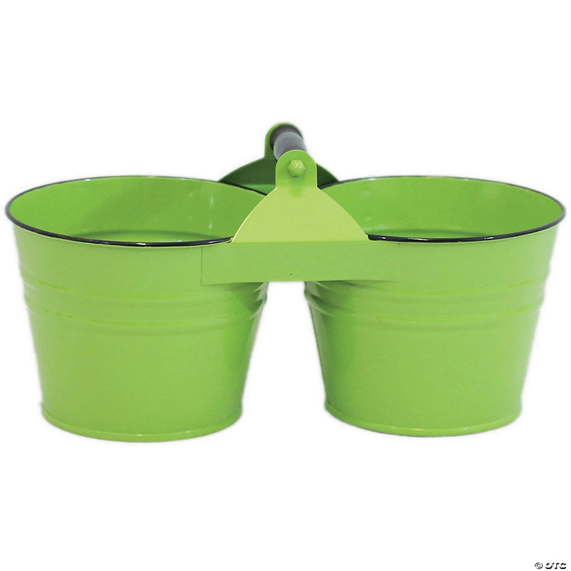 "Dual Metal Bucket 6""-Lime"