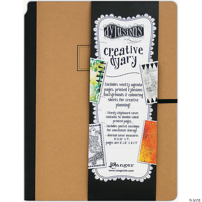 "Dyan Reaveley'S Dylusions Creative Dyary 11.8125""X9""-Kraft W/Black"