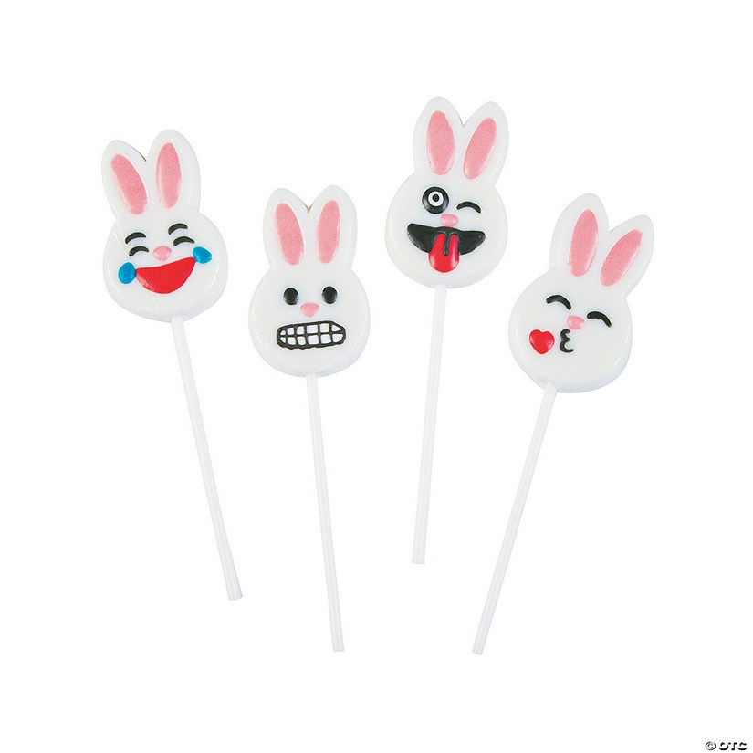 Easter Bunny Emoji Suckers